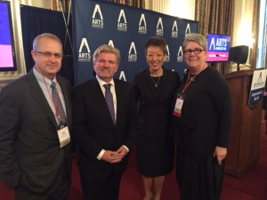 Congressional Arts Kickoff with Tom Katzenmeyer, Bob Lynch, Chairman Chu, Linda Woggon