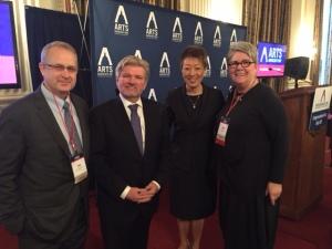 Congressional Arts Kickoff with Tom Katzenmeyer, Bob Lynch, Chairman Chu, Linda Woggon
